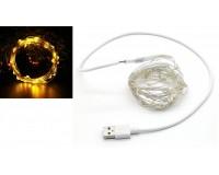Гирлянда Огонек OG-LDL08 светодиодная желтая 5 м. Питание: USB