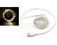 Гирлянда Огонек OG-LDL08 светодиодная теплый 5 м. Питание: USB
