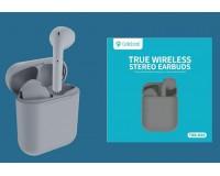 Наушники беспроводные Celebrat W10 TWS внутриканальные, Bluetooth V5.0 кейс для хранения и зарядки в комплекте (емкостью 300 мАч) серый коробка