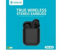 Наушники беспроводные Celebrat W10 TWS внутриканальные, Bluetooth V5.0 кейс для хранения и зарядки в комплекте (емкостью 300 мАч) черный коробка