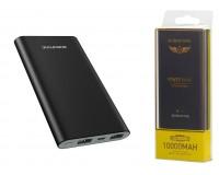 Портативное зарядное устройство Borofone BT19 Universal 10000 мАч 1USB выход 5В/2А, 2USB выход 5В/2А, металл, черный