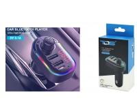 FM трансмиттер TDS TS-CAF12 12/24В, USB/Type-C/microSD/AUX, автомобильный, Bluetooth 5, 0, USB зарядка 3100 mA, коробка, черный