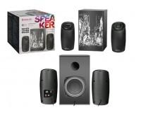 Акустические системы 2.1 Defender G26 12+2х7Вт Bluetooth V5.0, FM-тюнер, MP3, SD/USB, AUX чёрные (65126)