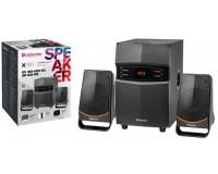 Акустические системы 2.1 Defender X181 18+2х4Вт Bluetooth V5.0, FM-тюнер, MP3, SD/USB, AUX, LED дисплей чёрные (65181)