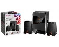 Акустические системы 2.1 Defender X361 20+2х8Вт Bluetooth V5.0, FM-тюнер, MP3, SD/USB, AUX, LED дисплей чёрные (65361)