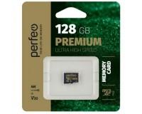 Флэш карта microSDXC 128 GB Perfeo Class 10 UHS-3 V30 без адаптера