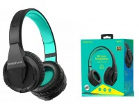 Наушники беспроводные Borofone BO10 Precious полноразмерные, Bluetooth, коробка, зеленый