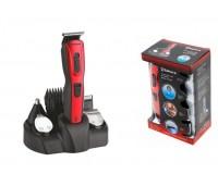 Набор для стрижки SAKURA SA-5523R [POWER]Вт, 10 насадок, аккумуляторный , Ni-Mh 600mA, индикатор зарядки, триммер, красный