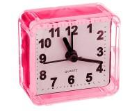 Часы будильник Perfeo PF-C3087 /PF-TC-001 Quartz квадрат, корпус пластиковый, размер:55х55х30 мм, тип механизма: кварцевый, питание: 1хАА, красные