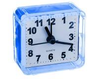Часы будильник Perfeo PF-C3088 /PF-TC-001 Quartz квадрат, корпус пластиковый, размер:55х55х30 мм, тип механизма: кварцевый, питание: 1хАА, синие