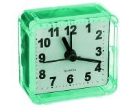 Часы будильник Perfeo PF-C3089 /PF-TC-001 Quartz квадрат, корпус пластиковый, размер:55х55х30 мм, тип механизма: кварцевый, питание: 1хАА, зеленые