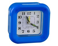 Часы будильник Perfeo PF-C3095 /PF-TC-003 Quartz квадрат, корпус пластиковый, размер:95х95х40 мм, тип механизма: кварцевый, подсветка, питание: 1хАА, синие