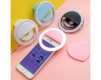 Селфи-лампа «кольцо» на клипсе - PF-B4013 аккумулятор 60 mAh, 28 светодиодов, 3 уровня, USB, черный