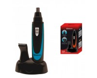 Триммер для удаления лишних волос SAKURA SA-5520BL на батарейках, 1хАА, 2 насадки черно-голубой