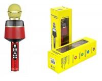 Микрофон Орбита OT-ERM10 беспроводной, Bluetooth 5, 0, аккумулятор 1200mAh, красный