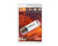 Флэш диск 64 GB USB 2.0 FaisON 230 белый с колпачком