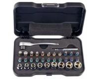 Набор инструментов AtuMan DUKA RS-2 33, 22 биты, трещетка, удлинитель для трещетки, 9 головок, пластиковый кейс