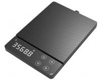 Весы кухонные AtuMan Duka ES-1 электронные, цена деления 1 г. max 3 кг. яркий дисплей, сенсорные кнопки, размер; 19*13*1.7см., аккумулятор 450 мАч