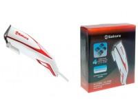Набор для стрижки SAKURA SA-5100R [POWER]Вт, 4 универсальные насадки, материал ножей:нержавеющая сталь, красный