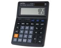 Калькулятор Perfeo PF-B4850 бухгалтерский, 14 разрядный, размер 122х168х37 мм, черный