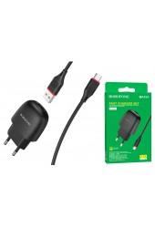 Зарядное устройство Borofone BA49A Vast power + кабель microUSB 2100 mA USB 1хUSB, выходной ток: USB-2, 1А, черный, коробка