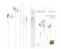 Наушники с микрофоном Borofone BM30 Pro Original вкладыши, кабель 1, 2м, коробка, белый