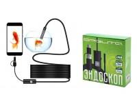 Эндоскоп USB для смартфонов Орбита OT-SME13 0, 3 Мп (CMOS 1/9) 640*480 длина кабеля: 5м., Micrо-USB/USB/TYPE-C, Android 4.1 и выше, Windows 2000/XP/Vista/7/10