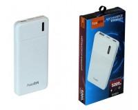 Портативное зарядное устройство FaisON B35A 5000 мАч 1USB выход 5В/2.1А, белый