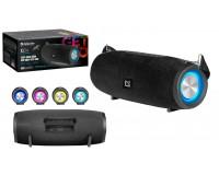 Акустическая система mini MP3 Defender G34 20Вт BT/FM/USB/AUX/TWS/Light питание USB 5 В , Li-Ion 3000 мАч, True Wireless Stereo (TWS), функция Hands free, светодиодная подсветка черный