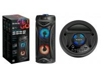 Акустическая система mini MP3 Defender G70 12Вт BT/FM/TF/USB/MIC/Light питание USB 5 В , Li-Ion 1200 мАч, светодиодная подсветка, разъем для микрофона, функция Hands free черный
