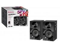 Акустические системы 2.0 Defender Aurora S10 2х6Вт корпус МДФ, регулировка громкость, отключение звука, питание от 220В, черный (65414)