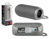 Акустическая система mini MP3 Defender S700 Enjoy 10Вт Bluetooth, MP3, FM-радио, microSD, USB, аккумулятор Li-Ion 1200mA, функция Hands free, True Wireless Stereo (TWS), Размер: 6.5x6.5x16.0 см серая