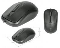 Мышь Defender ISA-531 USB Optical (1000 dpi) черная, 2 кнопки+колесо-кнопка, длина кабеля 1, 4 м. коробка
