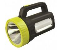 Фонарь-прожектор Спутник AFP932-3W 1х3Вт+24 (4, 8Вт) светодиодиодов, аккумулятор 1200mAh 4V зеленый/чёрный, пластик с каучуковым напылением