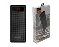 Портативное зарядное устройство FaisON HB20А Mige 20000 мАч Выходной ток:1USB-2100мА , 2USB-2100мА ; входной ток: 2000мА, пластик, черный