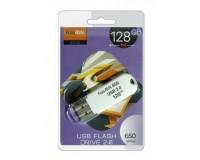 Флэш диск 128 GB USB 2.0 FaisON 650 белый с колпачком