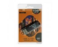 Флэш диск 128 GB USB 2.0 FaisON 650 черный с колпачком
