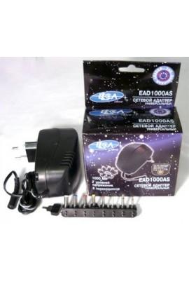 Блок питания ELECA EAD 1000AS 1000mA 3-12V 8 штекеров, коробка