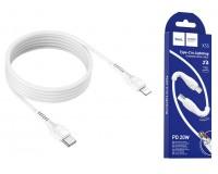 Кабель Type-C HOCO длина 1м, USB2.0, 3 A, коробка, (Type-C-Lightning(IPhone5)) белый (X55 Trendy)