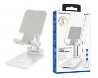 Держатель Borofone BH42 Star для смартфона, до 10 дюймов настольный белый