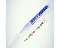 Маркер-краска лаковый MunHwa PM-05 PAINT MARKER пулевидный наконечник 4 мм, нитро-основа, алюминиевый корпус (104798) цвет чернил: белый