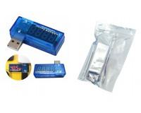 USB тестер Keweisi KWS-02 измерение тока, напряжения, синий