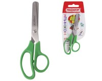Ножницы Пифагор 236987 размер: 127 мм, ассиметричные ручки, цвет ассорти, картонная упаковка с европодвесом