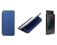 Чехол FaisON PREMIUM CA-17 для HUAWEI Honor 10 Lite экокожа, синий, книжка, с силиконовым креплением, на магните