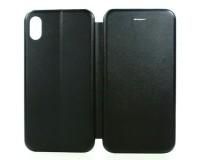 Чехол - Book для APPLE iPhone X/XS экокожа, черный, книжка, корзина из силикона,