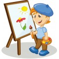 Набор для живописи на цветном холсте 30х40 см